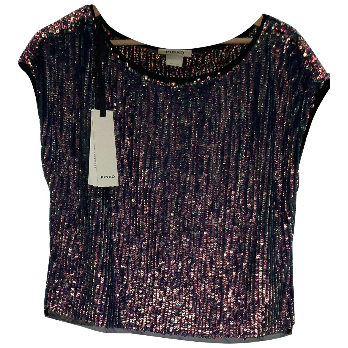Pinko - Top   pour femme en a paillettes - violet
