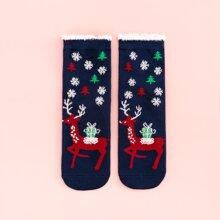 Calcetines con patron de navidad