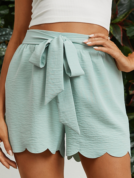 YOINS Casual Belted Lace-up Shorts