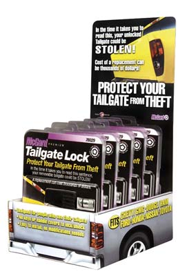 McGard 90214 Tailgate Lock Counter Display - Includes (5) Sets of PN 76029 / (1) Display