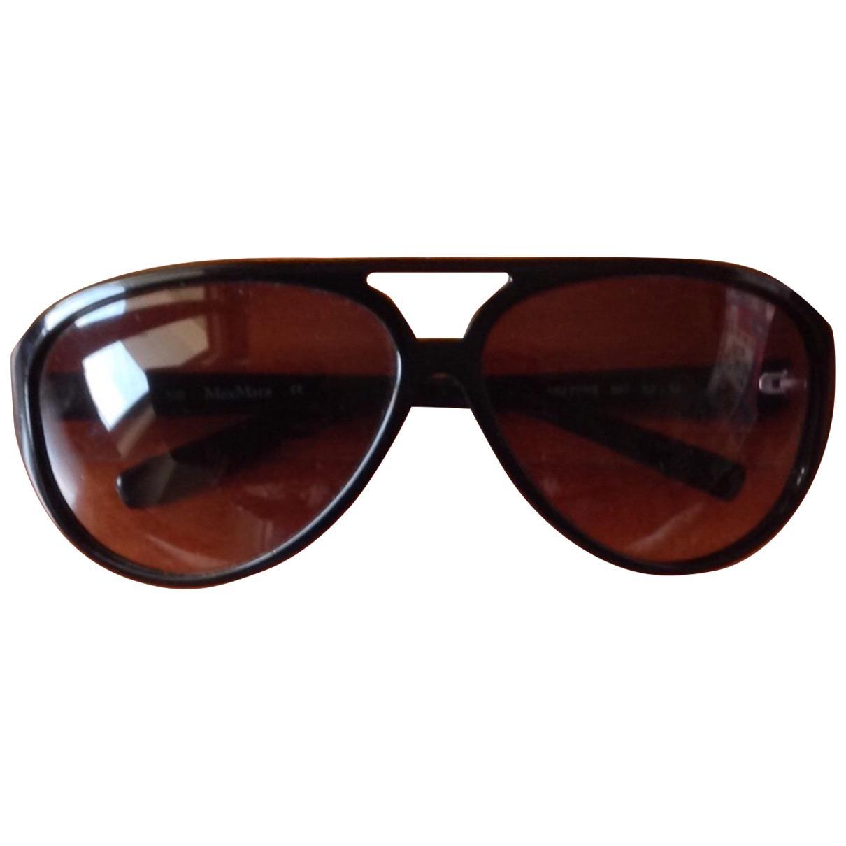 Max Mara \N Sonnenbrillen in  Schwarz Kunststoff