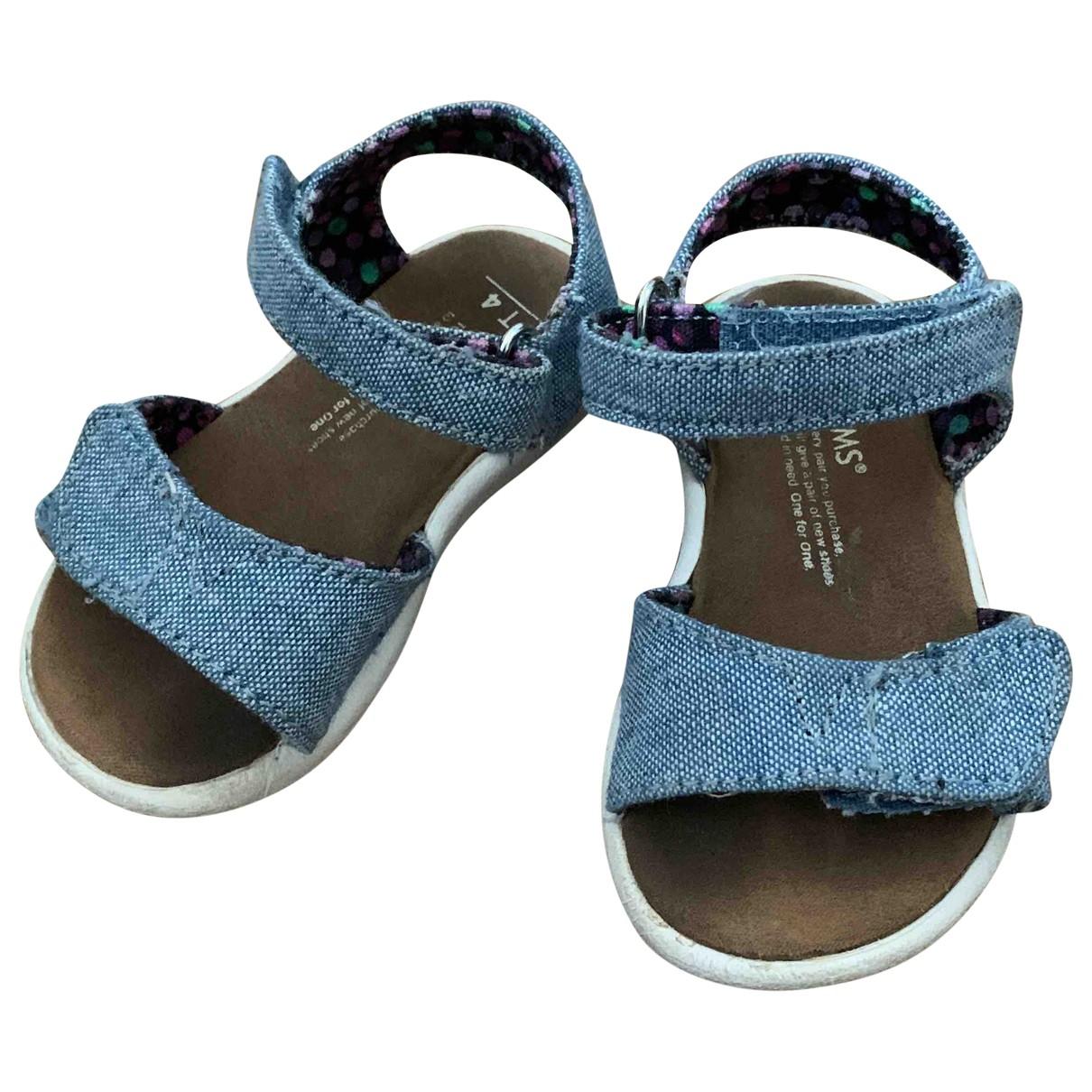 Tom's N Blue Cloth Sandals for Kids 3 UK