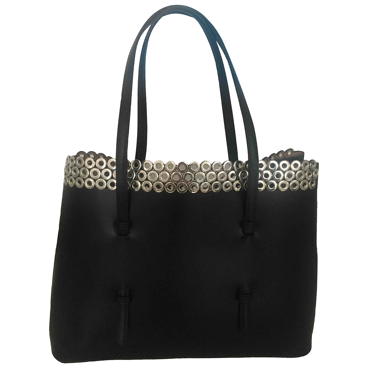Alaïa \N Black Leather handbag for Women \N