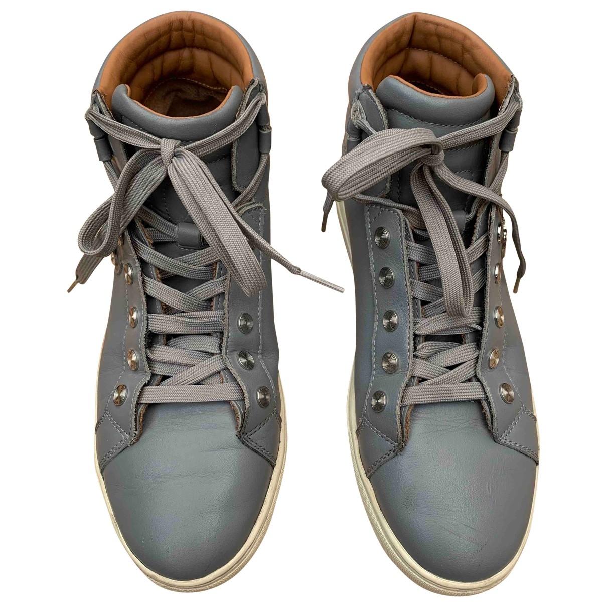 Armani Jean - Baskets   pour femme en cuir - gris