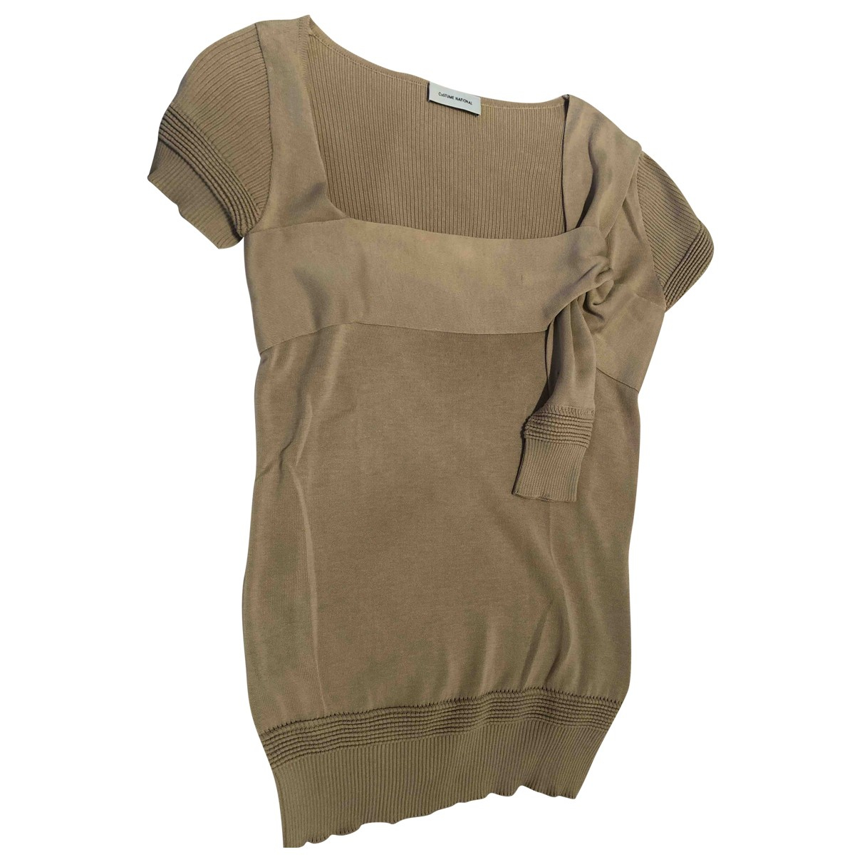 Costume National N Beige Cotton  top for Women L International