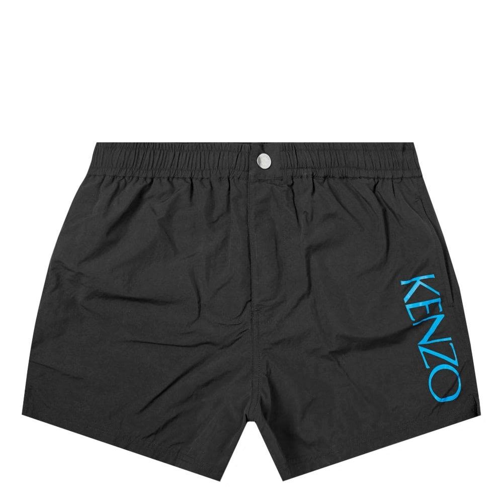 Kenzo Side Logo Swimshorts Black Colour: BLACK, Size: LARGE