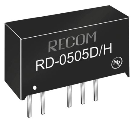 Recom RD 2W Isolated DC-DC Converter Through Hole, Voltage in 10.8 → 13.2 V dc, Voltage out ±12V dc