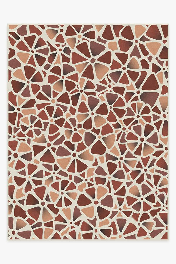Washable Rug Cover & Pad | Oleander Rouge Rug | Stain-Resistant | Ruggable | 9'x12'