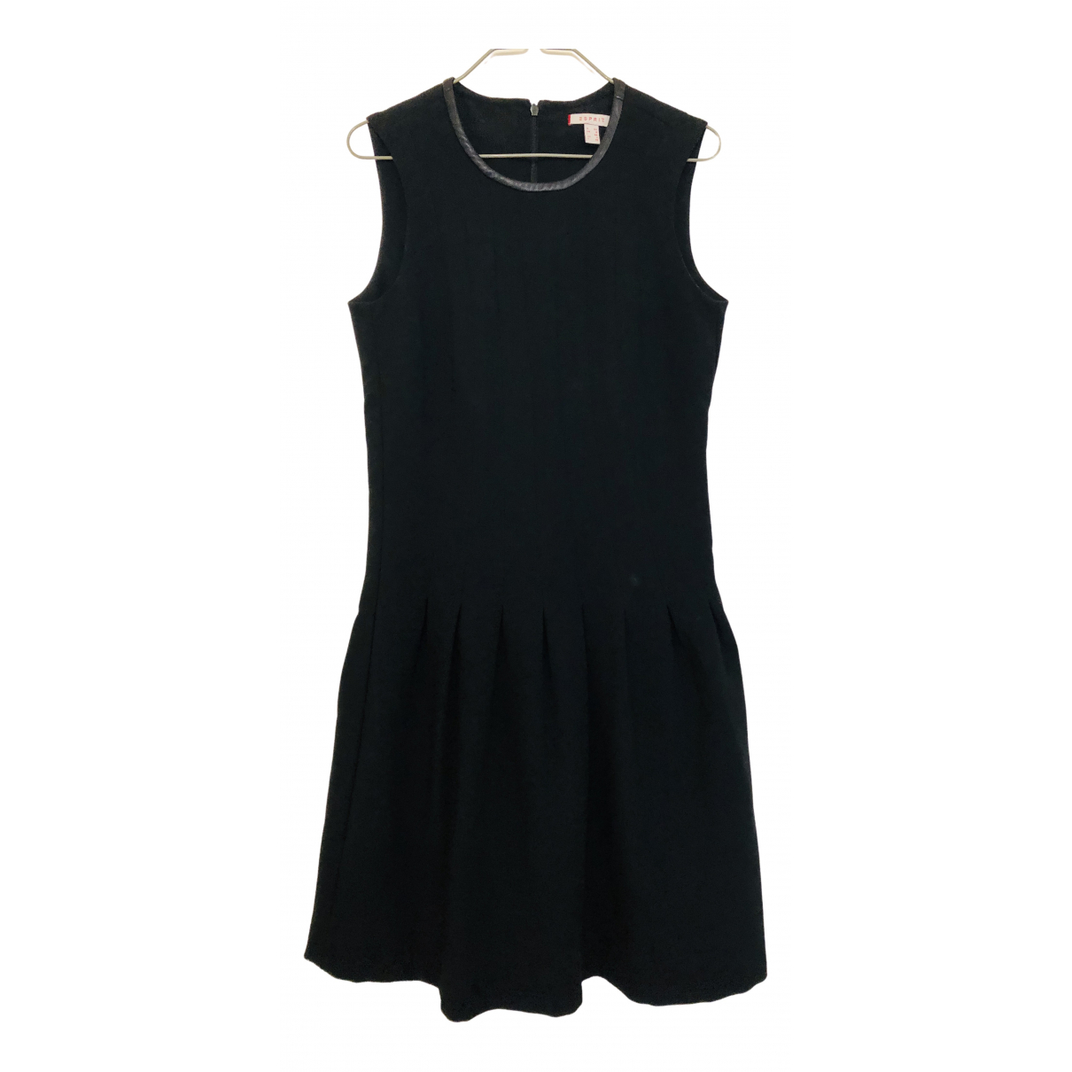 Esprit - Robe   pour femme en coton - elasthane - noir