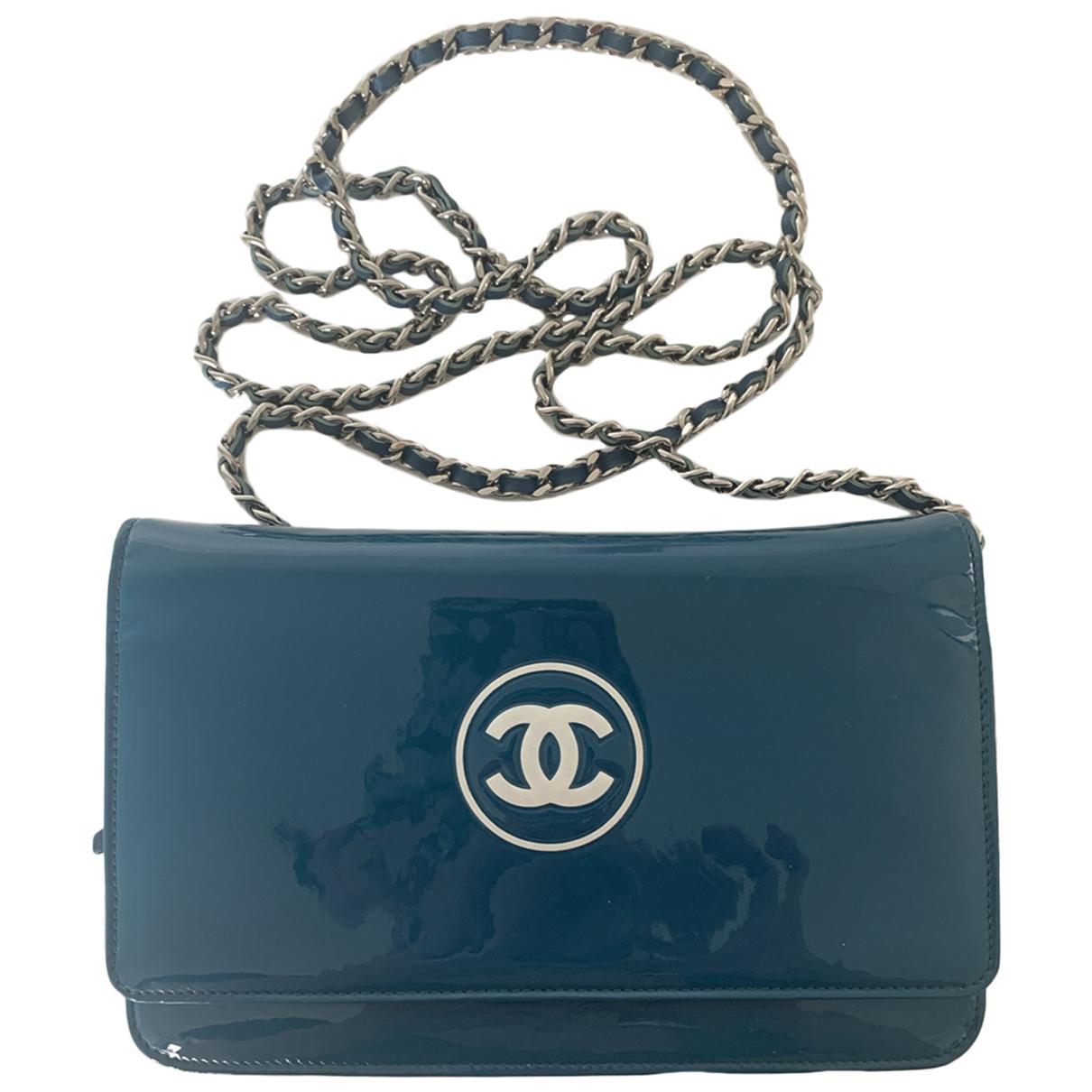 Chanel \N Handtasche in  Blau Lackleder