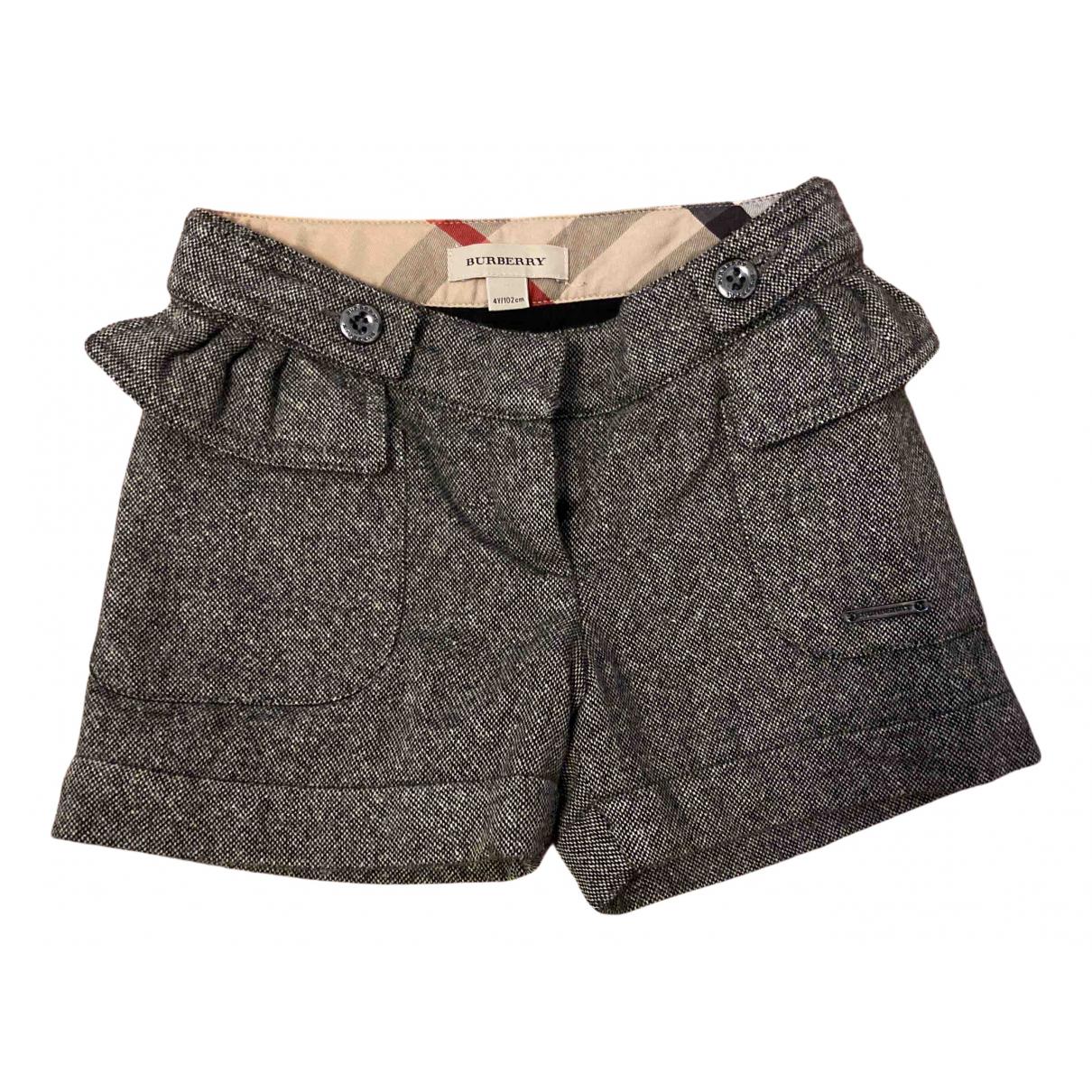 Burberry - Short   pour enfant en laine - gris