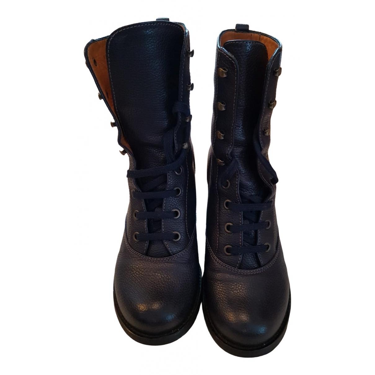 Chie Mihara - Boots   pour femme en cuir - bleu
