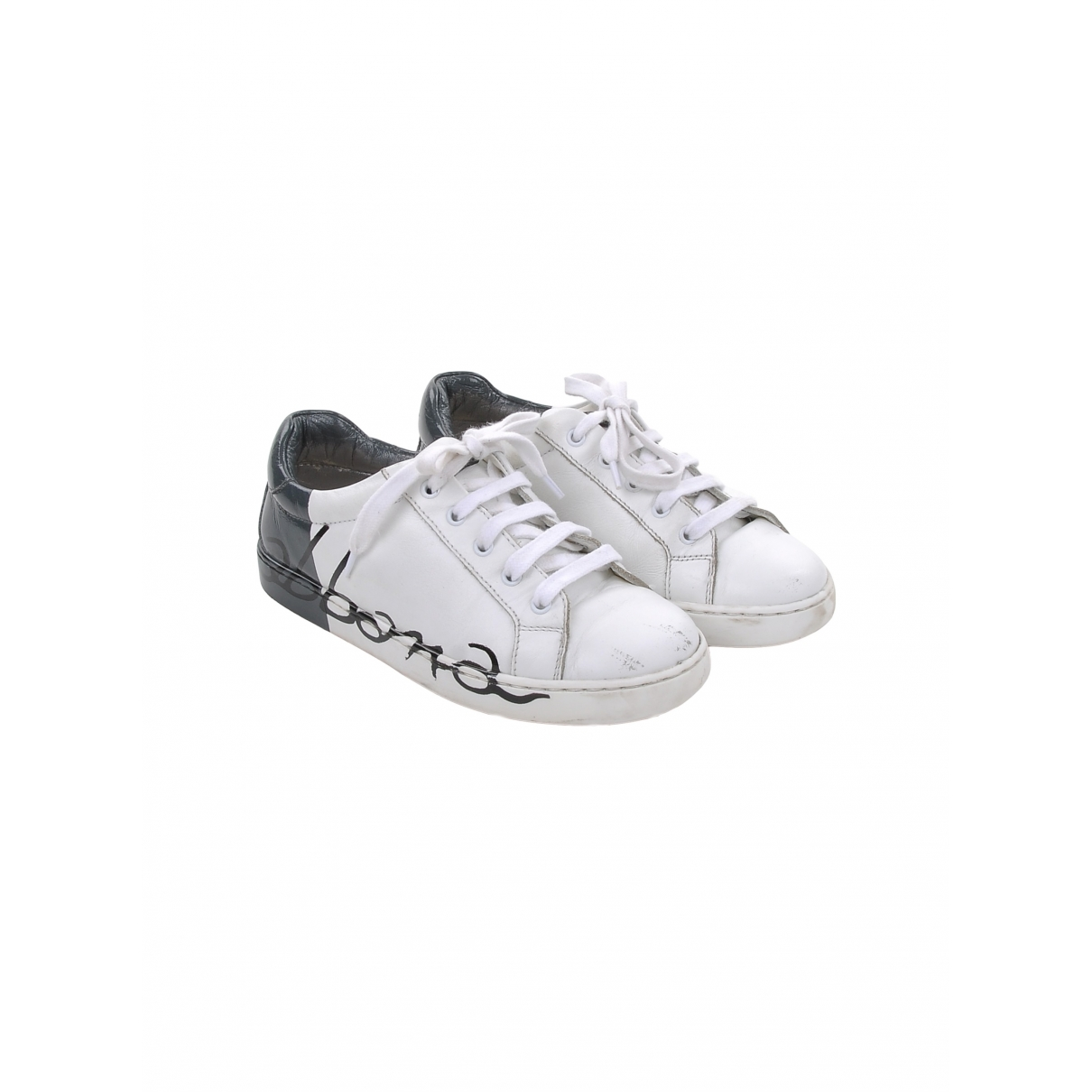 Dolce & Gabbana \N White Leather Trainers for Kids 30 EU
