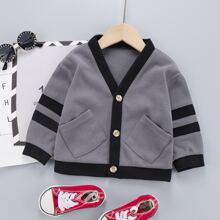 Jacke mit Streifen und doppelten Taschen