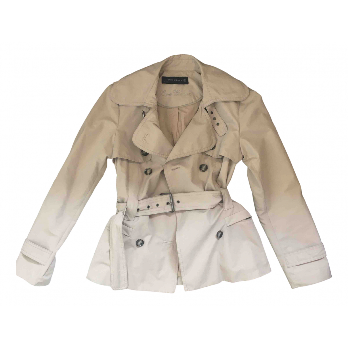 Zara \N Beige Cotton Trench coat for Women S International