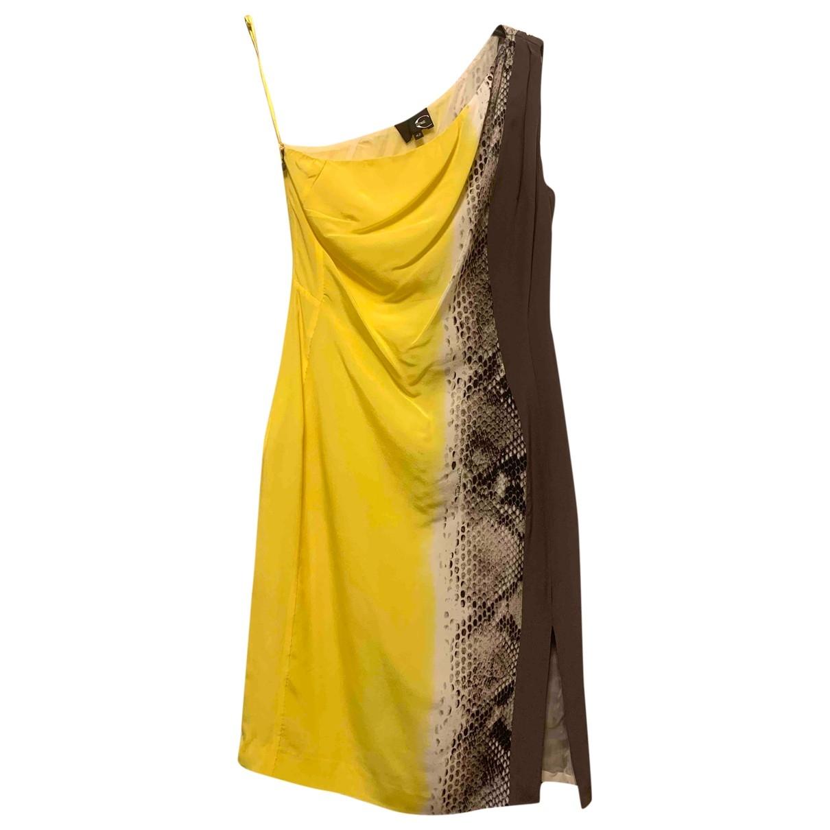 Just Cavalli - Robe   pour femme en soie - jaune