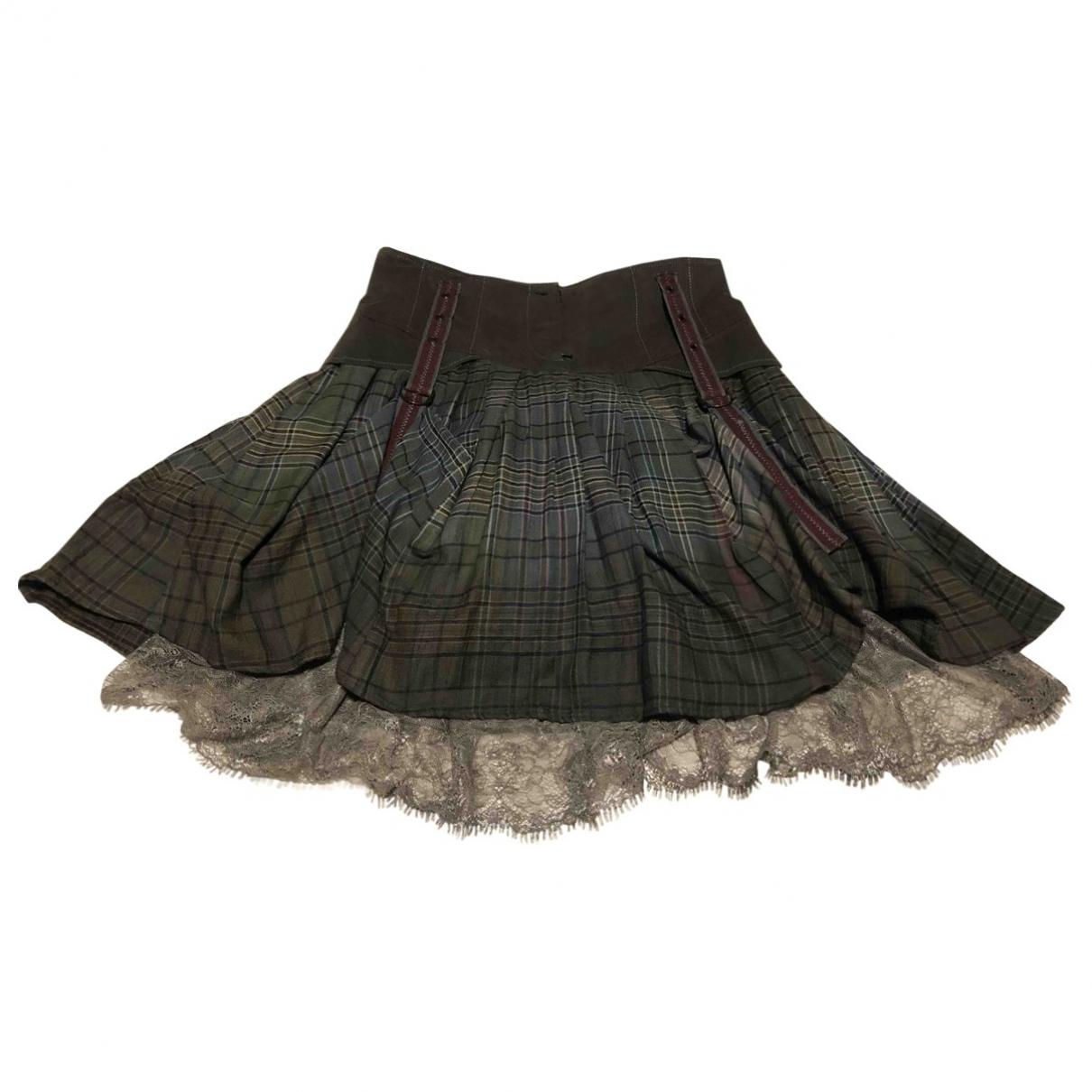 Non Signé / Unsigned \N Khaki Cotton skirt for Women 40 FR