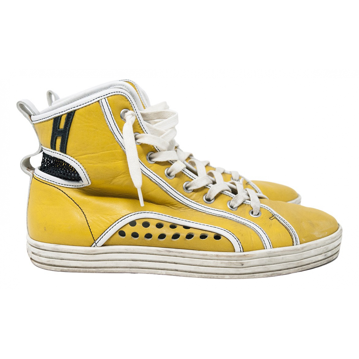 Hogan \N Yellow Leather Trainers for Women 38 IT