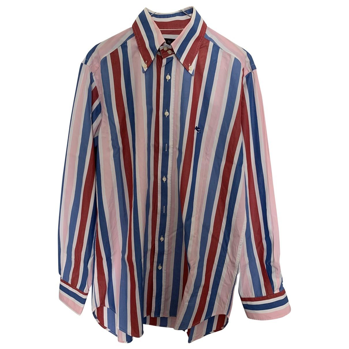Etro \N Multicolour Cotton Shirts for Men 40 EU (tour de cou / collar)