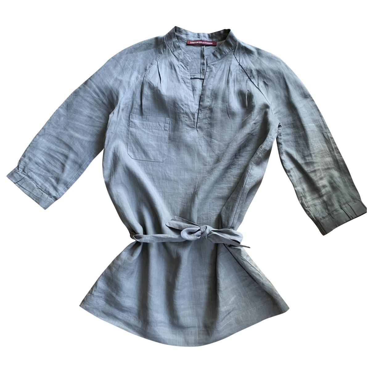 Comptoir Des Cotonniers \N Grey Linen  top for Women 36 FR