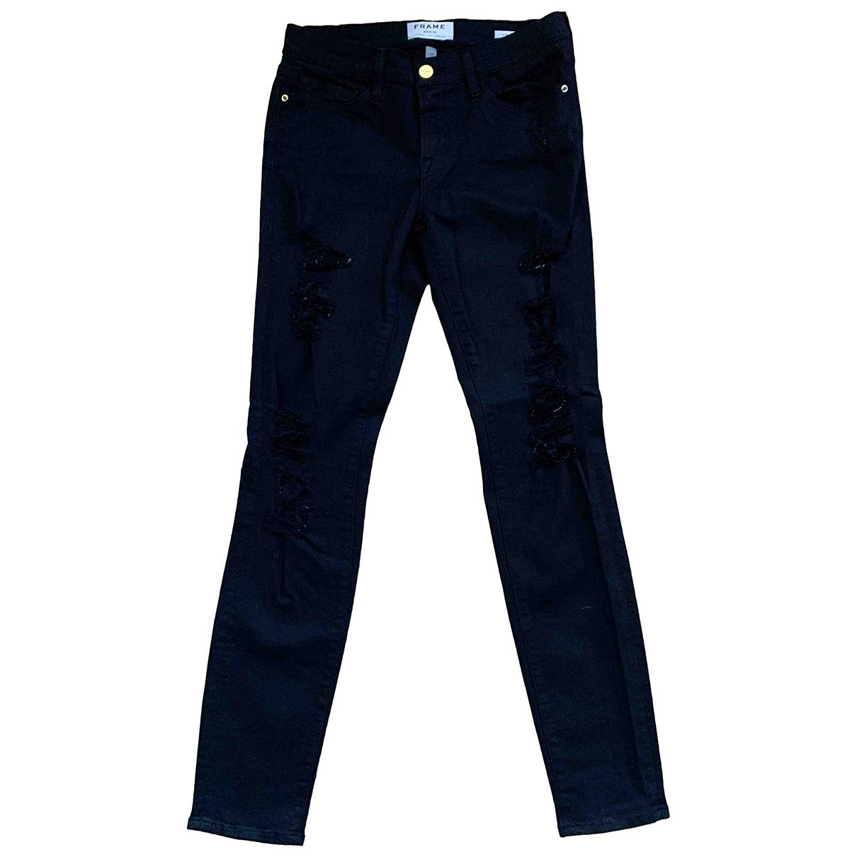 Frame Denim \N Black Cotton Jeans for Women 27 US