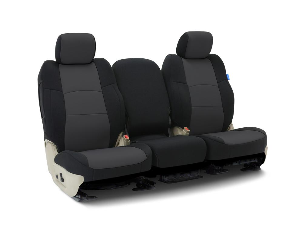 Coverking CSCF12TT9691 Custom Seat Covers 1 Row Neoprene Charcoal   Black Sides Front Toyota Tundra 2014-2021