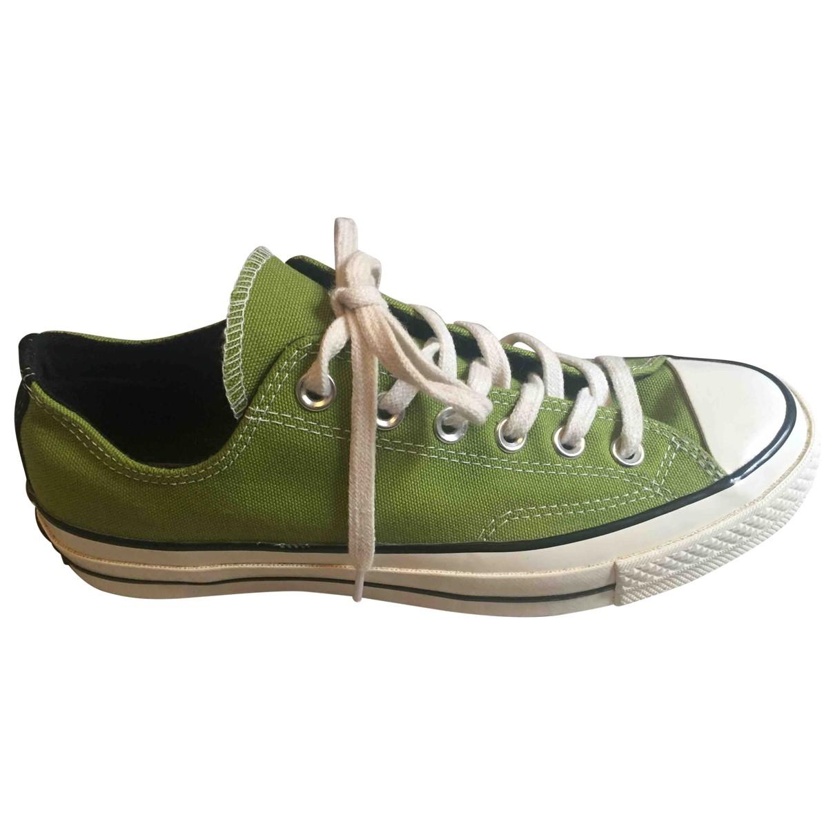 Converse - Baskets   pour femme en toile - vert