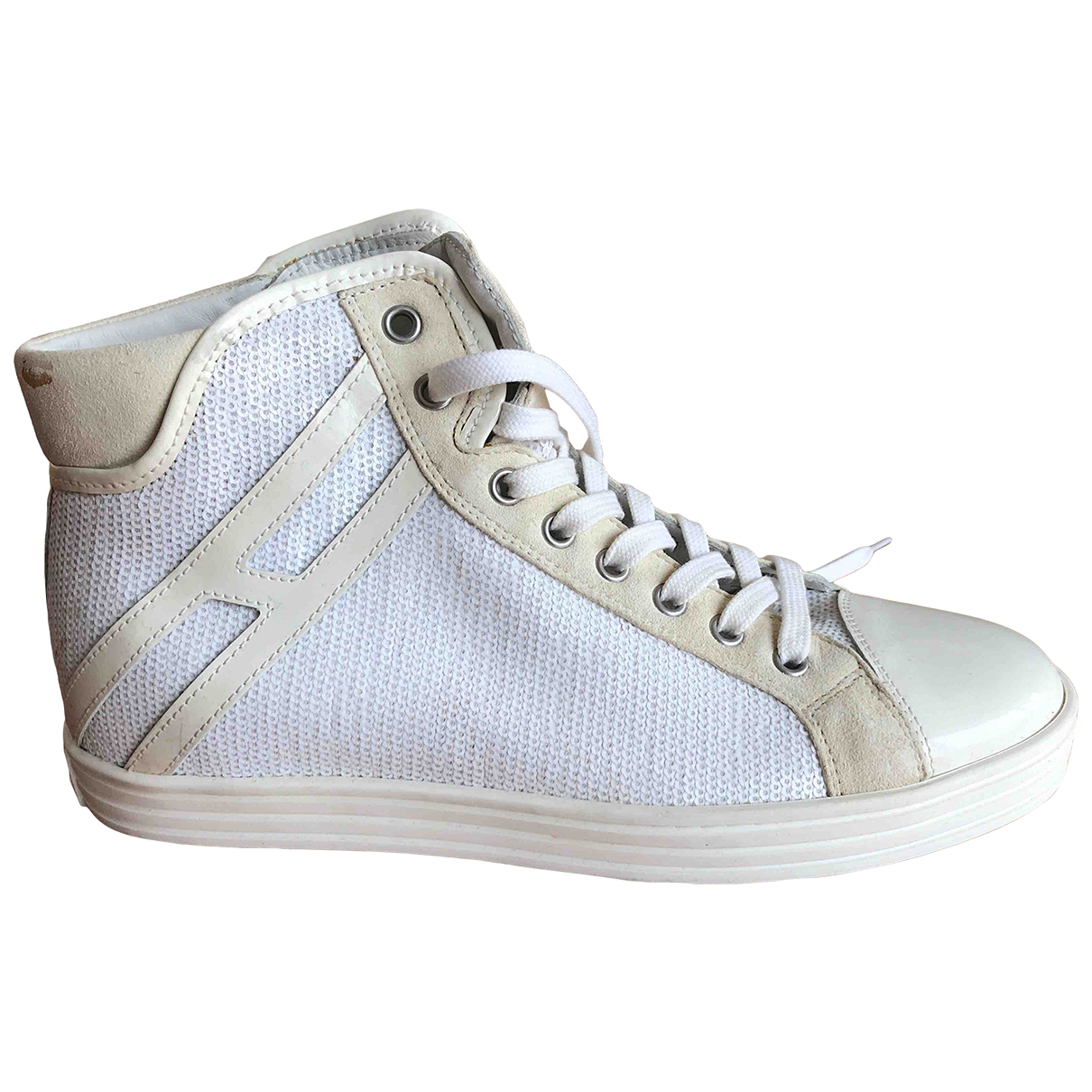 Hogan \N Sneakers in  Weiss Leder