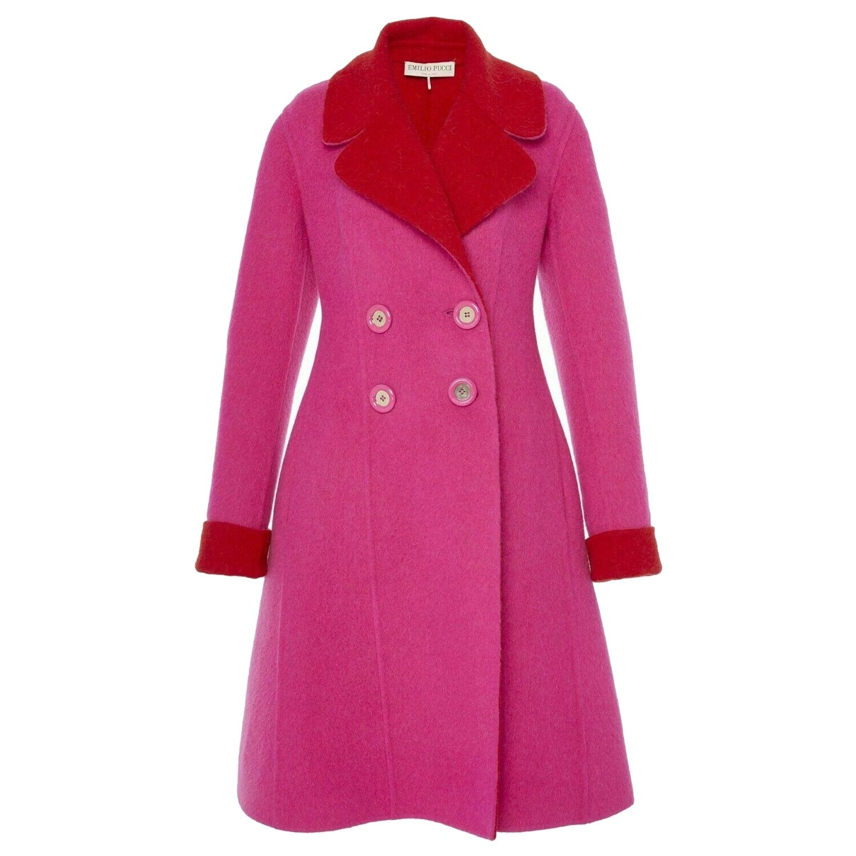 Emilio Pucci \N Pink Wool coat for Women 40 IT