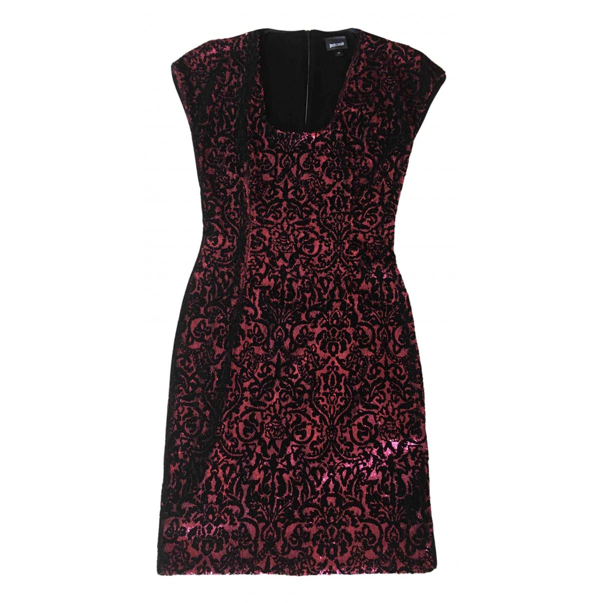 Just Cavalli \N Kleid in  Metallic Polyester
