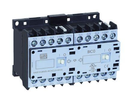 WEG 3 Pole Reversing Reversing Contactor - 7 A, 24 V dc Coil, 3NO, 3 kW