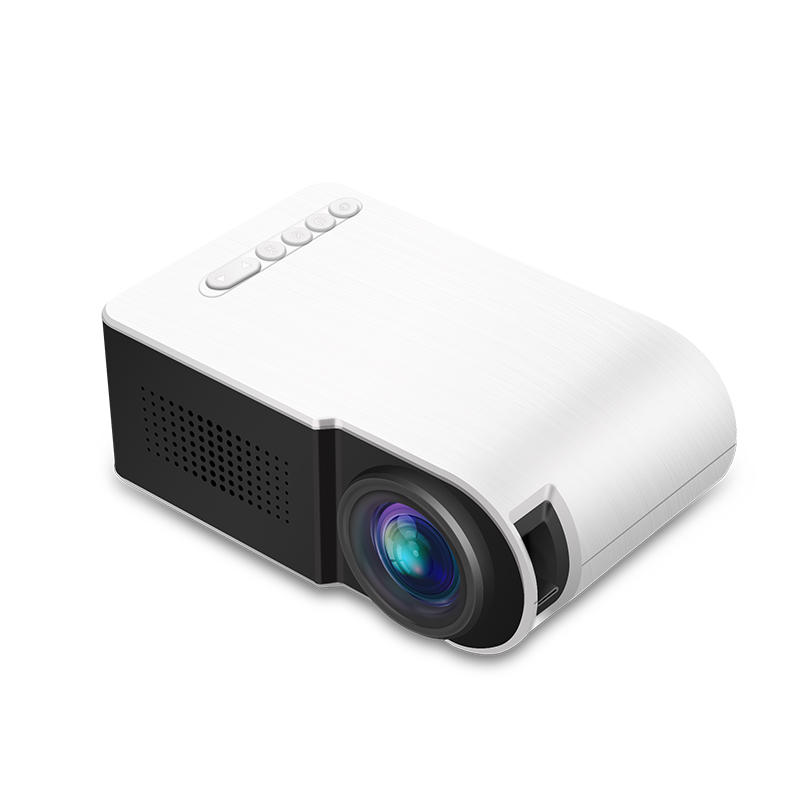 Yg210 1080P Led Mini Projector Contrast 800:1 Supports Resolution 1920*1080 Resolution 320*240 3D Home Theater Projector