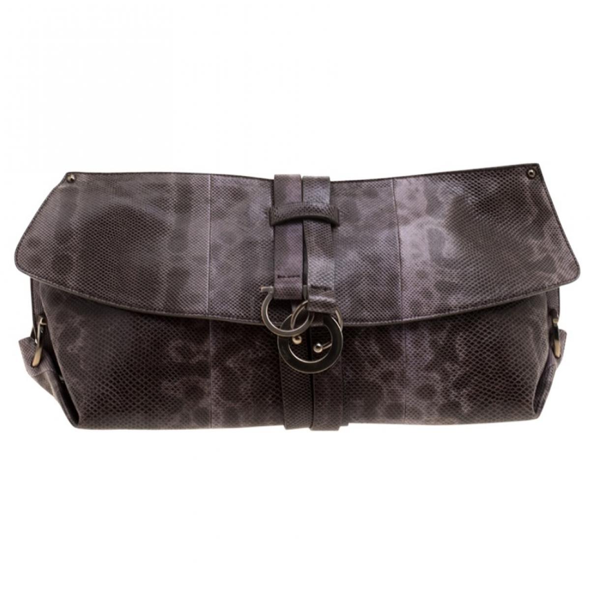 Salvatore Ferragamo \N Beige Leather Clutch bag for Women \N