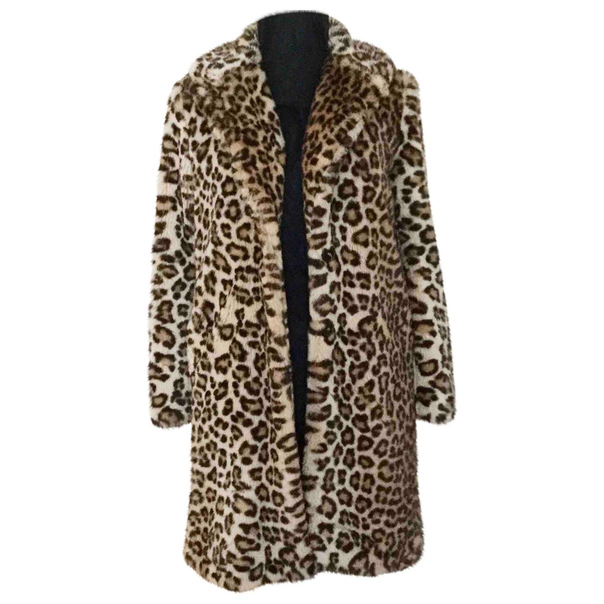 Zara \N Camel Faux fur coat for Women 34 FR