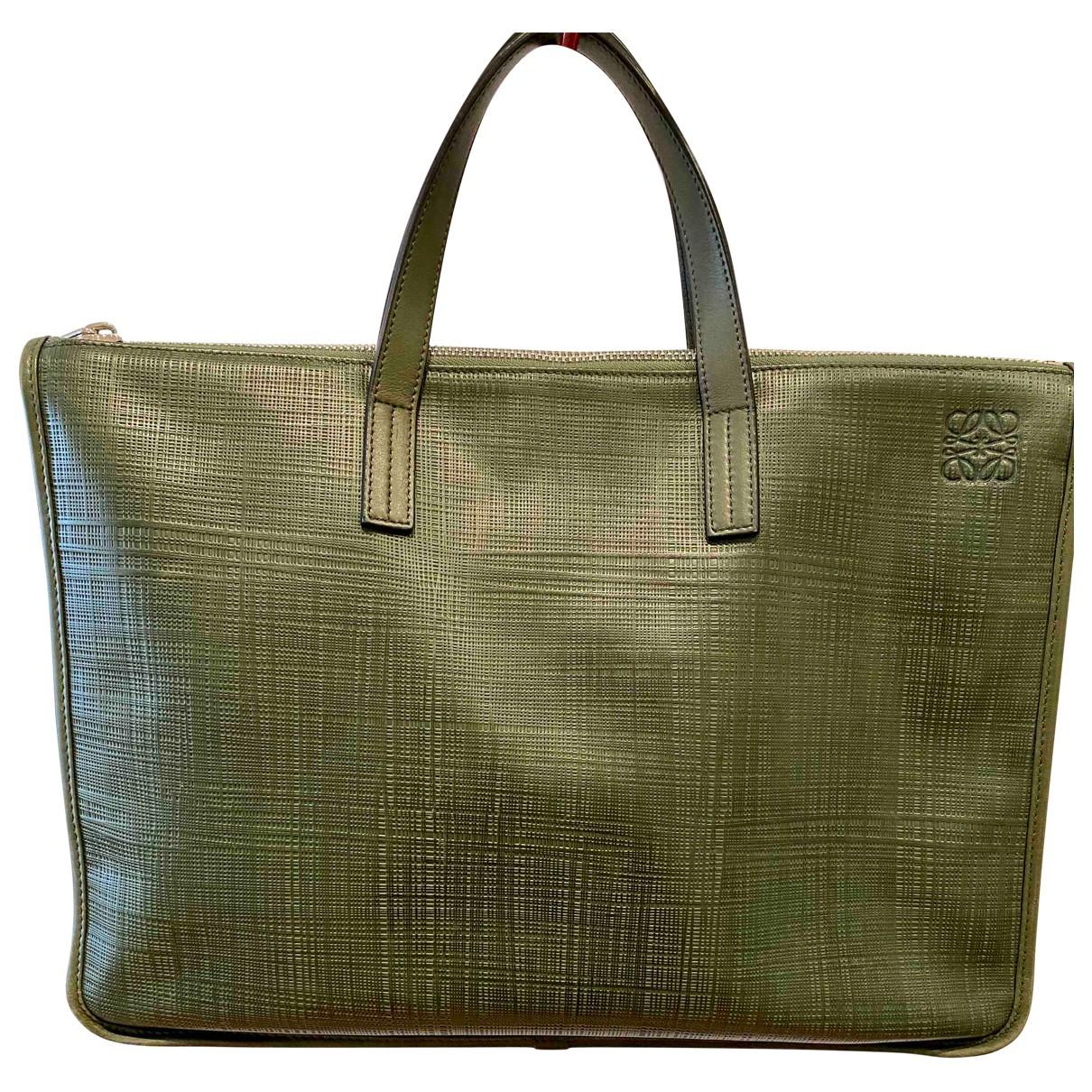 Loewe - Sac Goya pour homme en cuir - vert