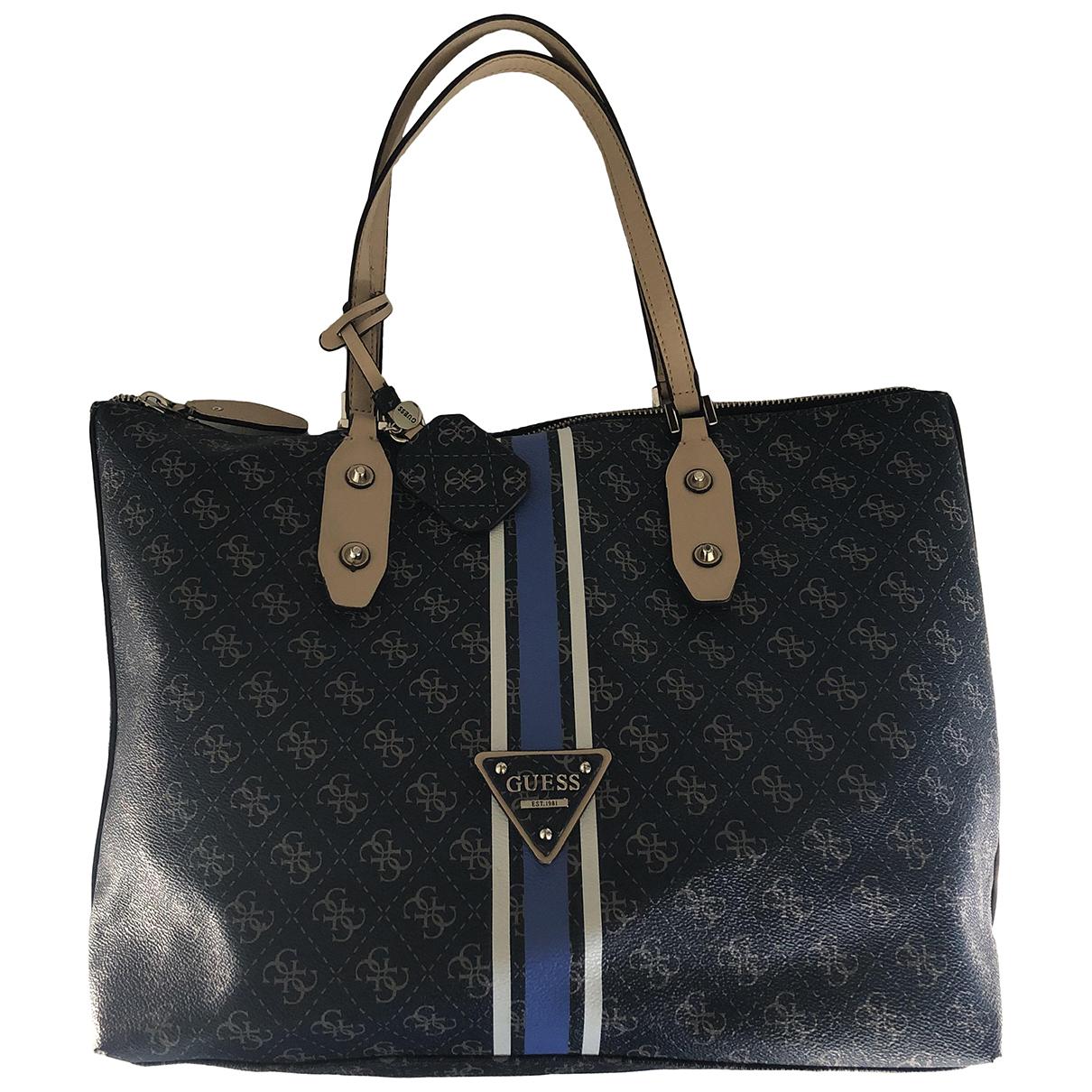 Guess \N Handtasche in  Blau Polyester