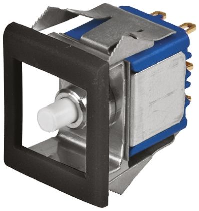 APEM Single Pole Double Throw (SPDT) Momentary Miniature Push Button Switch, IP65, 12.5 x 15mm, Panel Mount, 30V dc