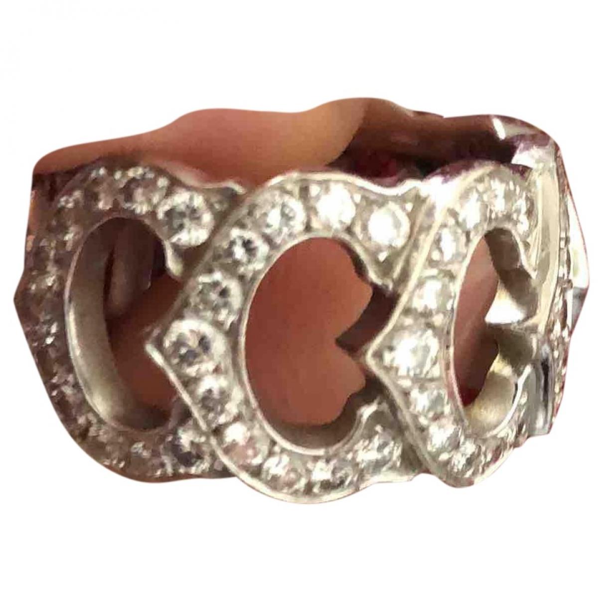 Cartier C Ring in  Grau Weissgold