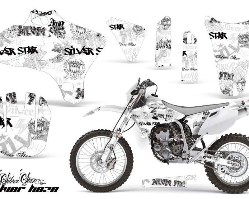 AMR Racing Dirt Bike Graphics Kit Decal Wrap For Yamaha WR250 WR450F 2005-2006áSSSH BLACK WHITE