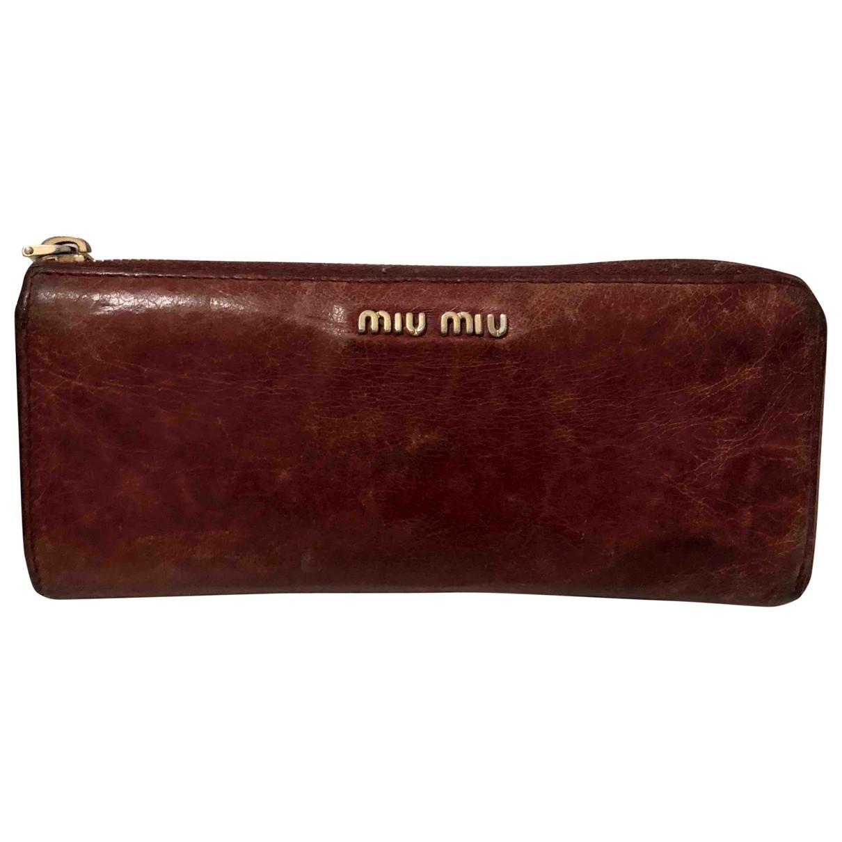 Miu Miu \N Burgundy Leather wallet for Women \N