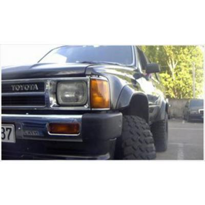 Bushwacker Toyota Pickup Cut-Out Rear Fender Flares (Paintable) - 31020-11
