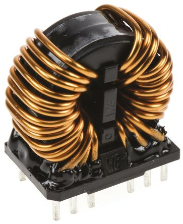 Wurth Elektronik Wurth 2 x 12 mH -30 → +50% Nano Crystalline Common Mode Choke, Max SRF:1 kHz → 300 MHz, 10A Idc, 2 x 15mΩ