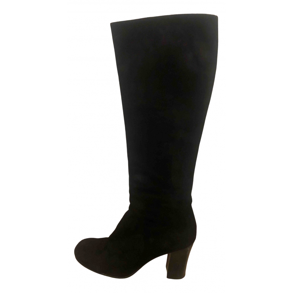 Prada N Black Suede Ankle boots for Women 38.5 EU