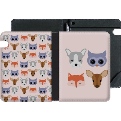 Amazon Kindle Voyage eBook Reader Huelle - Animal Friends on Pink von caseable Designs