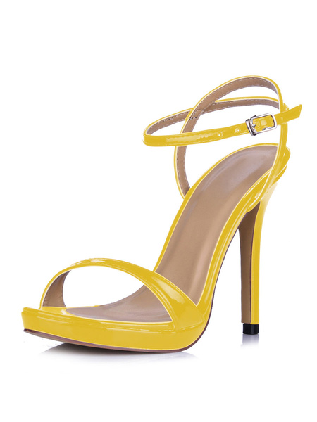 Milanoo High Heel Sandals Womens Open Toe Slingback Stiletto Heel Sandals