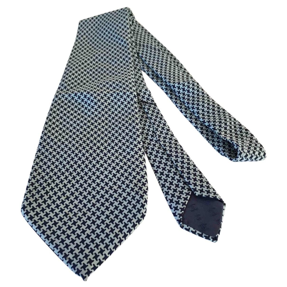 Chanel \N Krawatten in  Blau Seide