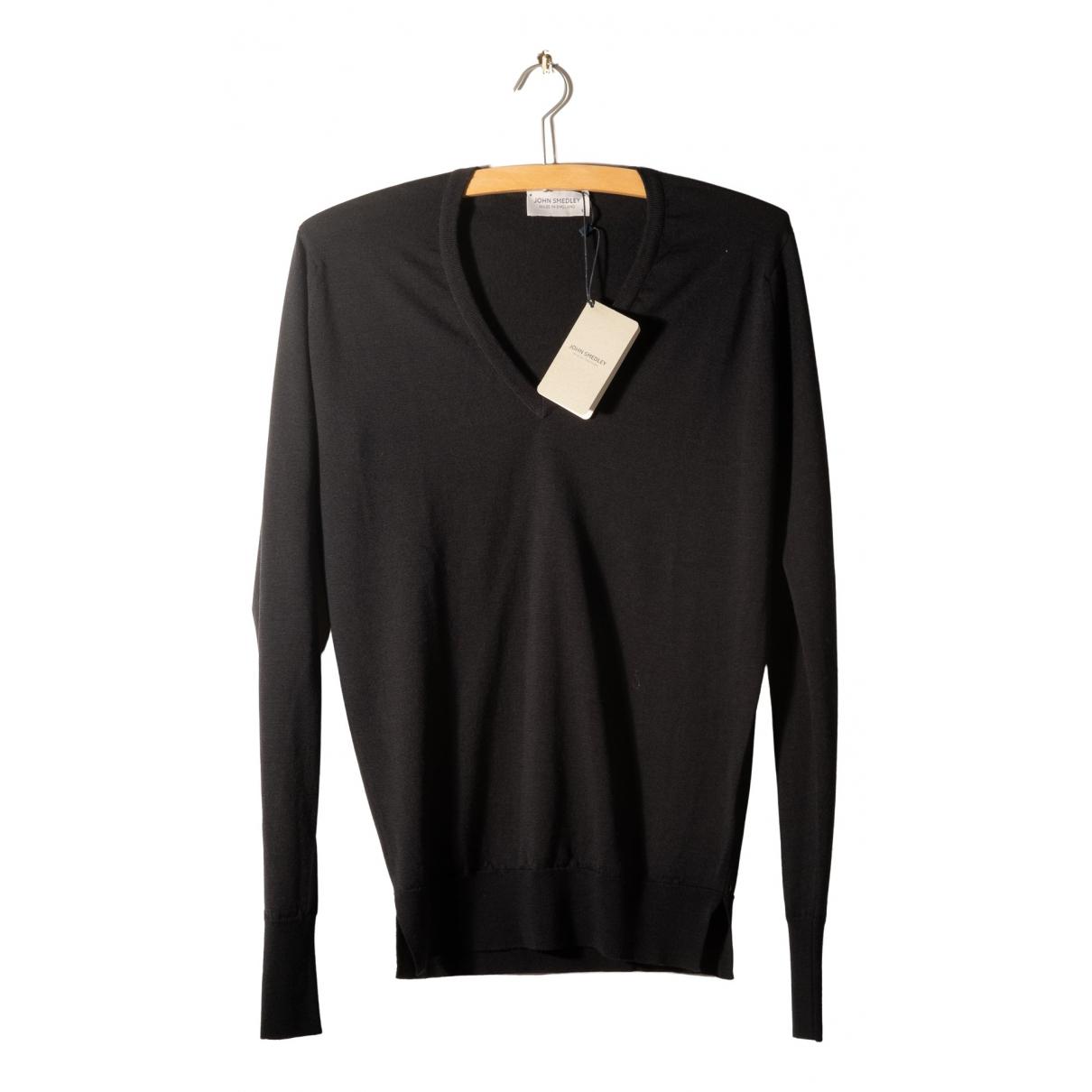 John Smedley - Pull   pour femme en laine - noir