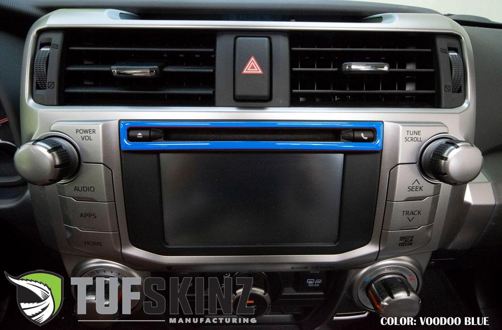 Tufskinz RUN015-VODB-G Upper Radio Display Accent Trim Fits 14-up Toyota 4Runner 1 Piece Kit Voodoo Blue