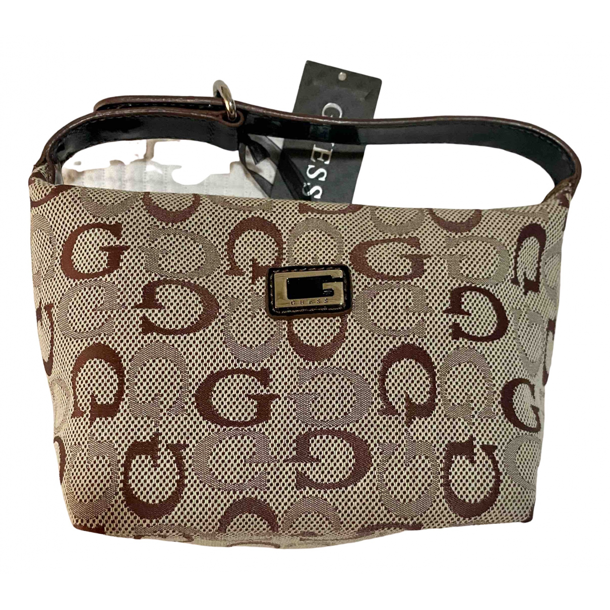 Guess \N Brown Cloth Clutch bag for Women \N