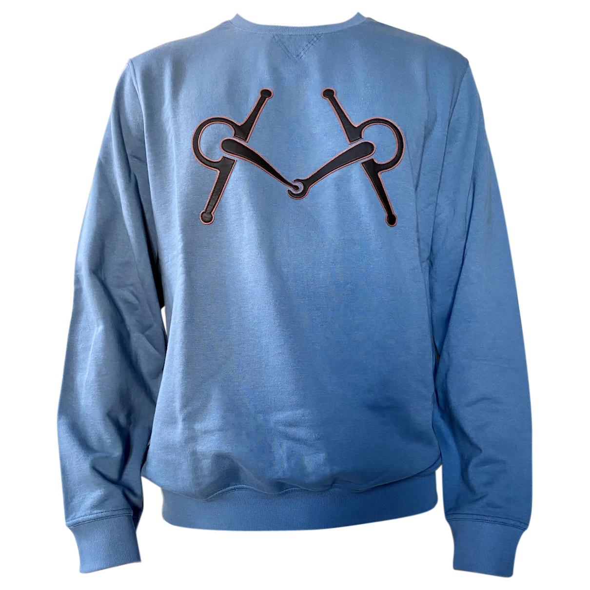 Hermes \N Pullover.Westen.Sweatshirts  in  Blau Baumwolle